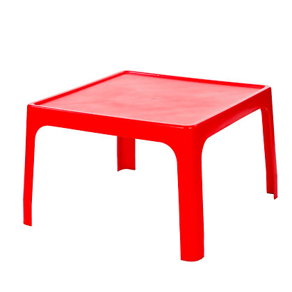 Kiddies Jolly Table Square Red