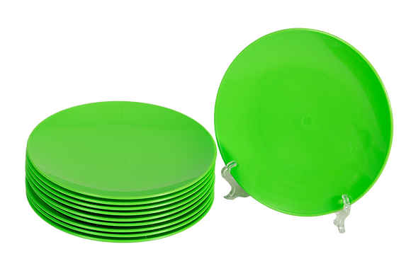 Round Plastic Plate Green