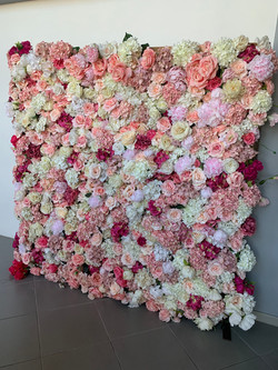 Silk Flower Wall Special Events Hiring