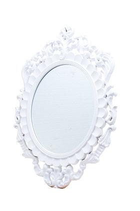 White Hanging Mirror