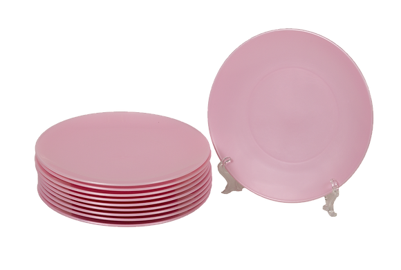 Round Plastic Plate Pale Pink