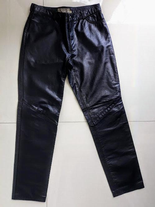 Calça couro preto