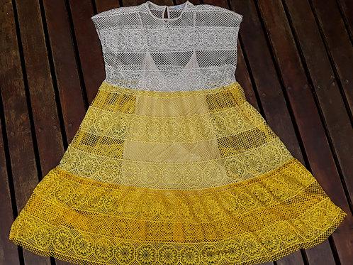 Vestido renda Zara
