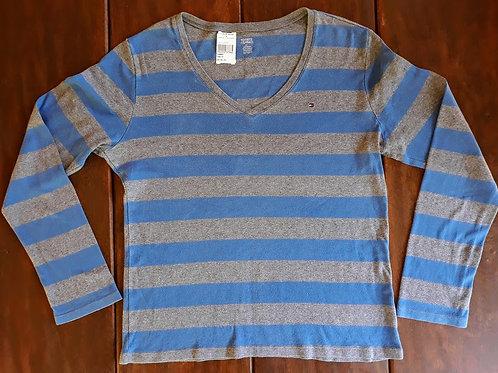 Camiseta Listrada em azul e cinza da Tommy