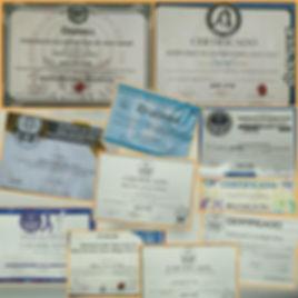 Certificações do Instrutor Gilson Santos