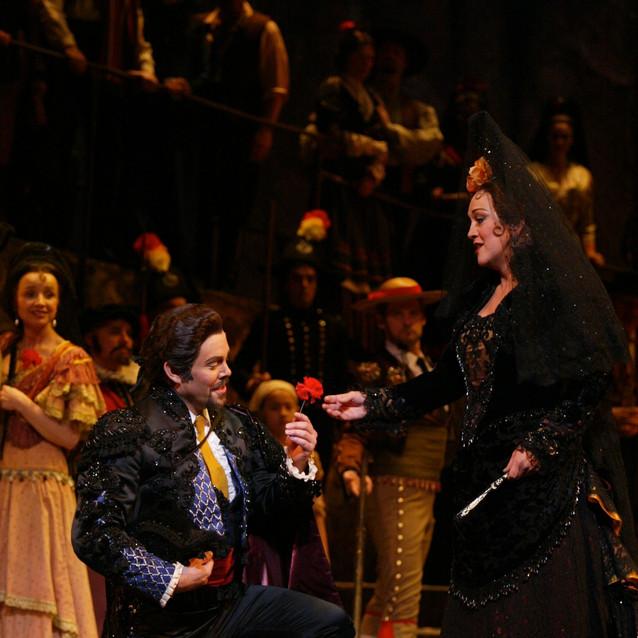 With Malcolm MacKenzie as Escamillo | New York City Opera | Photo: Carol Rosegg