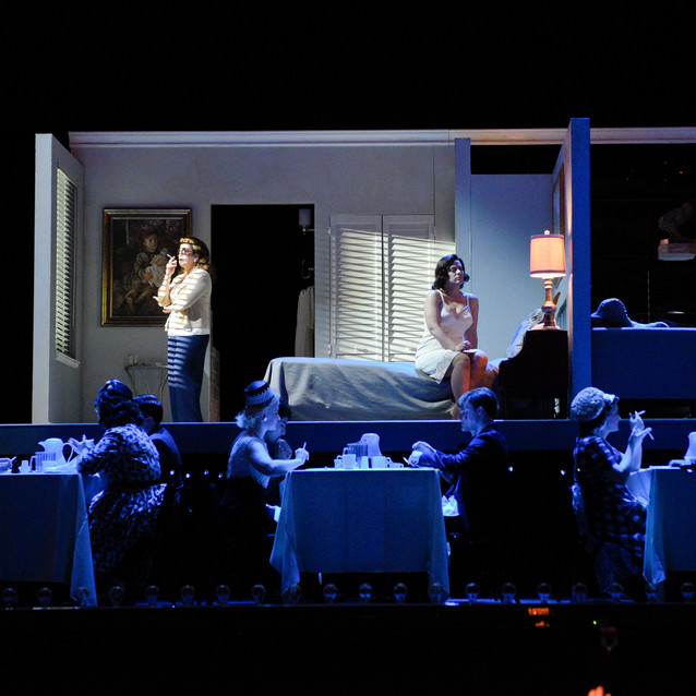 With Daniela Mack as Jackie Kennedy and Talise Travigne as Clara | Fort Worth Opera.