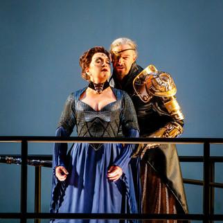 "As Fricka with Greer Grimsley as Wotan in ""Das Rheingold"" | Minnesota Opera | Photo: Cory Weaver"