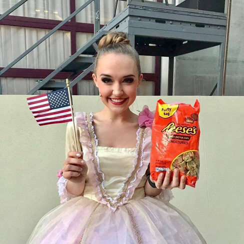 """""""Kiss Me, Kate"""" backstage on fourth of July."""