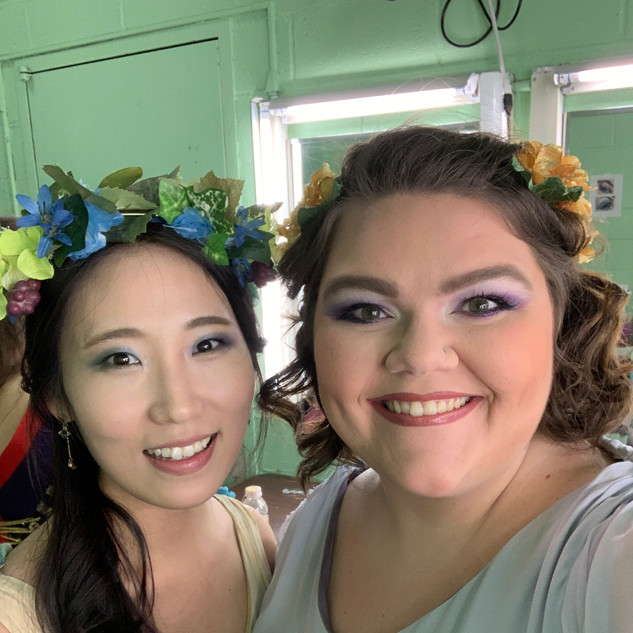 Backstage during opera scenes