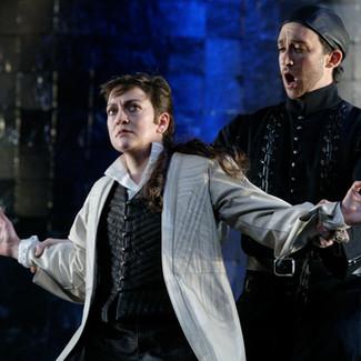 As Ruggiero (Alcina) with Joshua Winograde as Melisso  | New York City Opera | Photo: Carol Rosegg