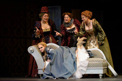 """As Dame Quickly in """"Falstaff"""""""