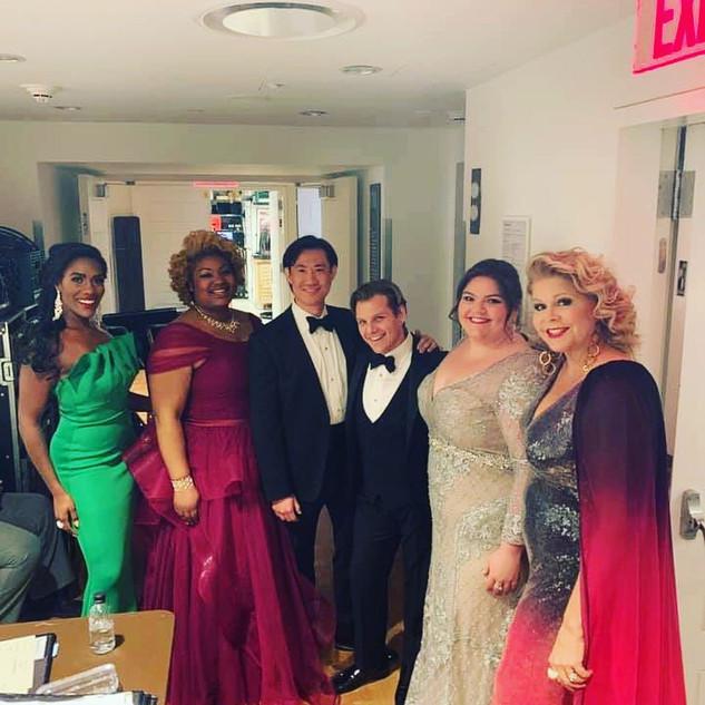 Backstage of Carnegie Hall