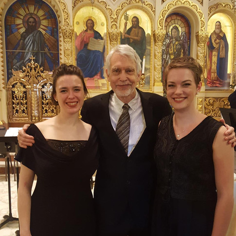 With John Harbison, conductor, and Kate Johnson, soprano, after performing BWV 163, June 2017