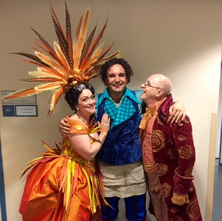 Figaro's (aka Adam Plachetka) adoring parents, Marcellina and Bartolo (Brindley Sheratt)