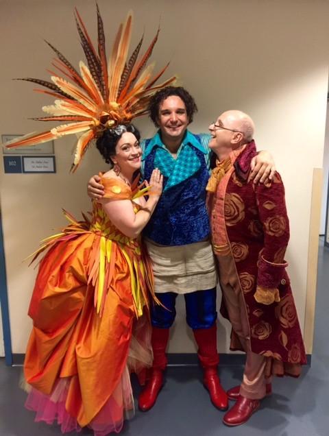 Figaro's (aka Adam Plachetka) adoring parents, Marcellina and Bartolo (Brindley Sheratt)