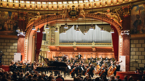 At the finals of the George Enescu Piano Competition