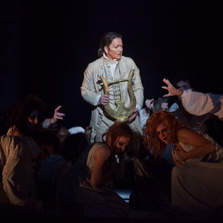 As Orfeo (Orfeo ed Euridice) with the Furies | Arizona Opera | Photo: Jeff Reeder