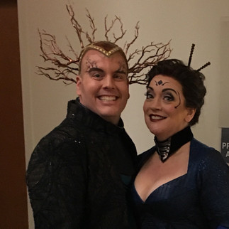 "As Fricka with Richard Cox as Loge in ""Das Rheingold"", Minnesota Opera."