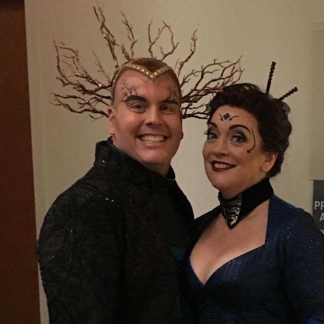 "As Fricka with Richard Cox as Loge in ""Das Rheingold"", Minnesota Opera."