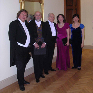 At Vienna's Musikverein after a performance of Beethoven's 9th Symphony, with Robert Holl, Kim Begley, Mo. Georges Prêtre, and Krassimira Stoyanova