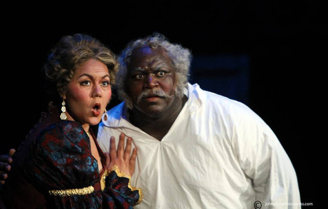"As Dame Quickly in ""Falstaff"""