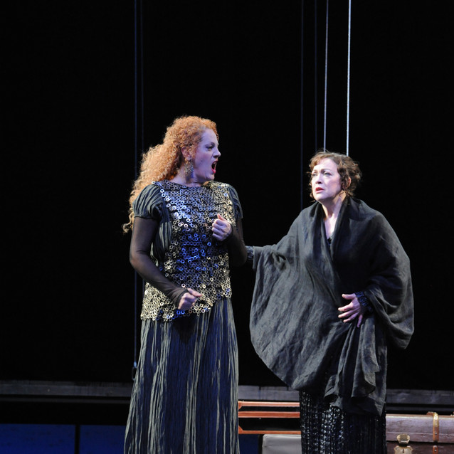 """As Brangäne in """"Tristan and Isolde"""" with Jeanne-Michèle Charbonnet as Isolde 