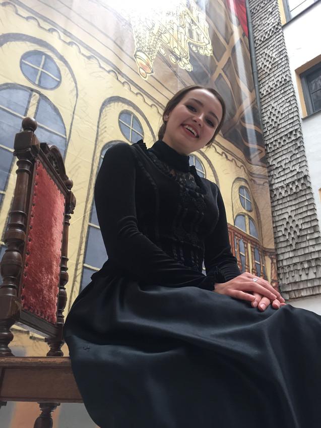"""Backstage as Annina in """"La Traviata"""""""