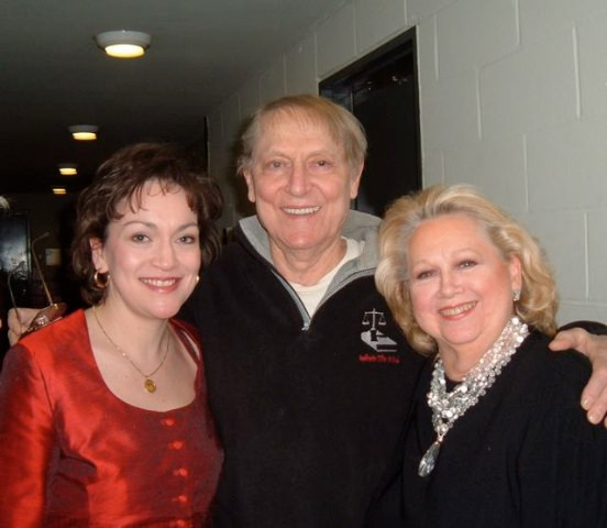 Backstage at NYCO with John Cullum and Barbara Cook (!!)