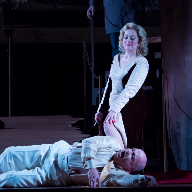 With Alan Woodrow as Herod. Virginia Opera | Photo: Lucid Frame Productions
