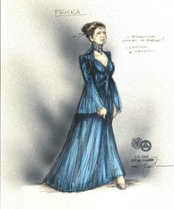 "Costume sketch by Matthew LeFebvre for ""Das Rheingold"" at Minnesota Opera"