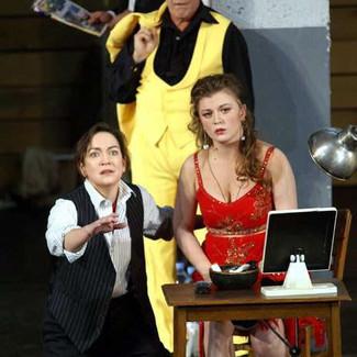 As The Composer (Ariadne auf Naxos) with Lyuba Petrova as Zerbinetta and Graham Clark as the Tanzmeister | Teatro Real Madrid | Photo: Javier del Real