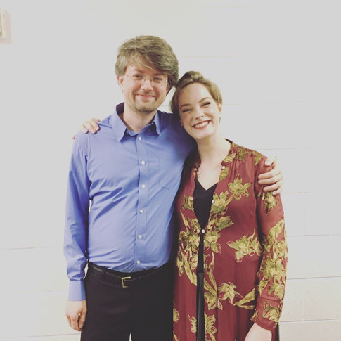 10.With Ryan MacEvoy McCullough, pianist, after the Bard College Conservatory concerto competition, 2019.