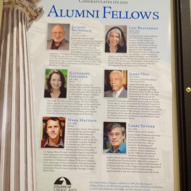Katharine was honored to be named an Alumni Fellow of the University of Iowa's College of Liberal Arts and Sciences.