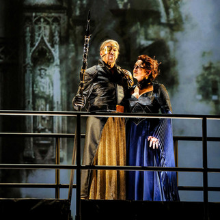 "As Fricka with Greer Grimsley as Wotan in ""Das Rheingold"" 