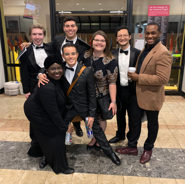 MSM students on their way to the Beethoven 9 concert. (I was the soprano solo cover)