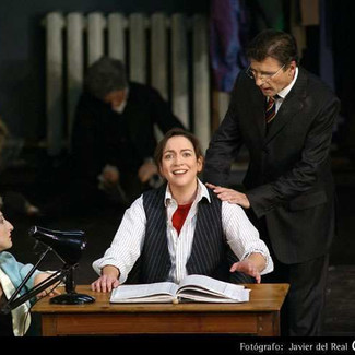 As The Composer (Ariadne auf Naxos) with Wolfgang Holzmair as the Musiklehrer | Teatro Real Madrid | Photo: Javier del Real
