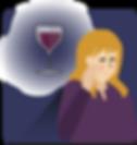 Maxx alcohol app_vrouw denk aan wijn