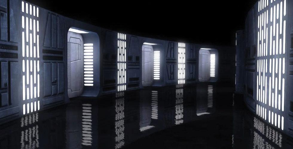 "STAR WARS - DEATH STAR INTERIOR - 15""x15"" Decal Backdrop for IKEA DETOLF"