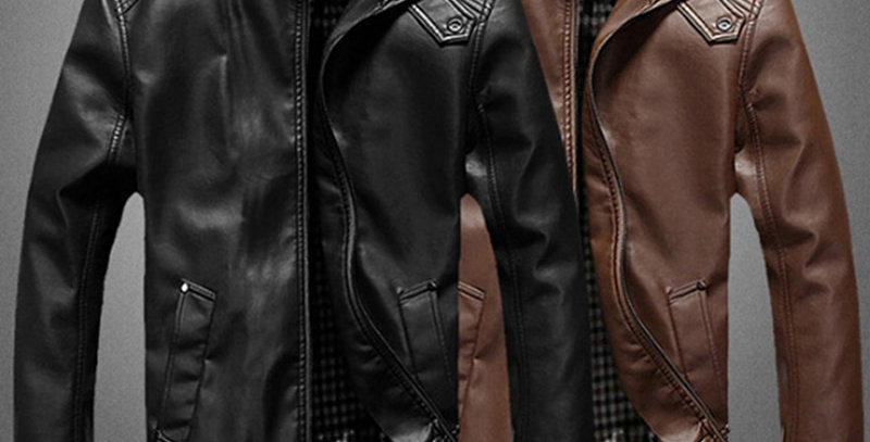 Geek Wear | Men's Leather Motorcycle Jacket | Wolverine