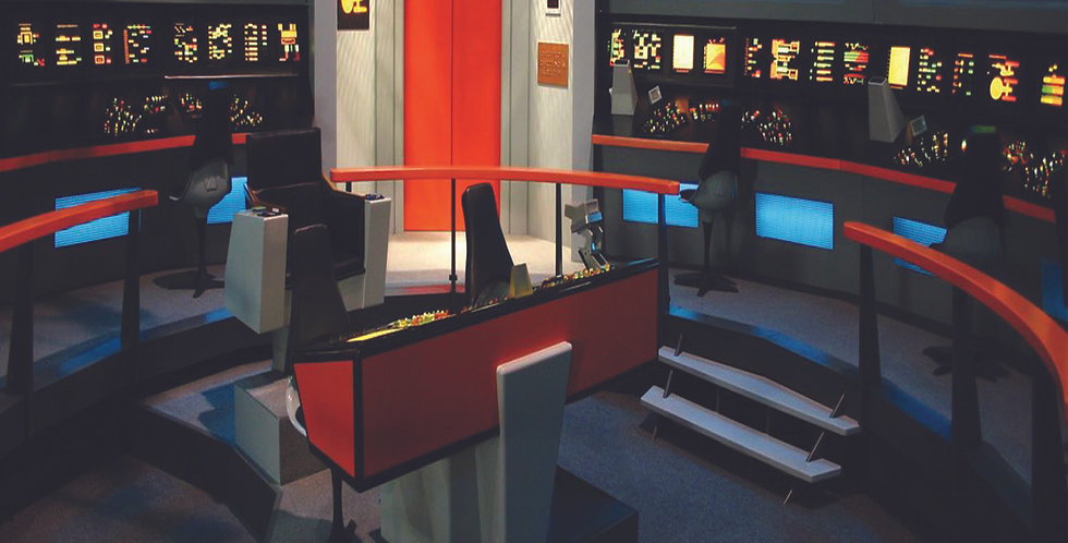 "STAR TREK - ENTERPRISE (TOS) BRIDGE - 15""x15"" Decal Backdrop for IKEA"
