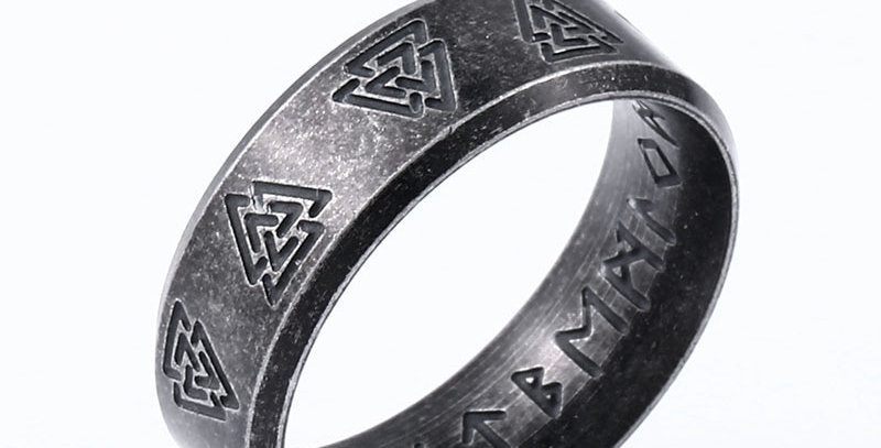 Viking Amulet Rune Ring | Stainless Steel Jewelry | Unique Geek