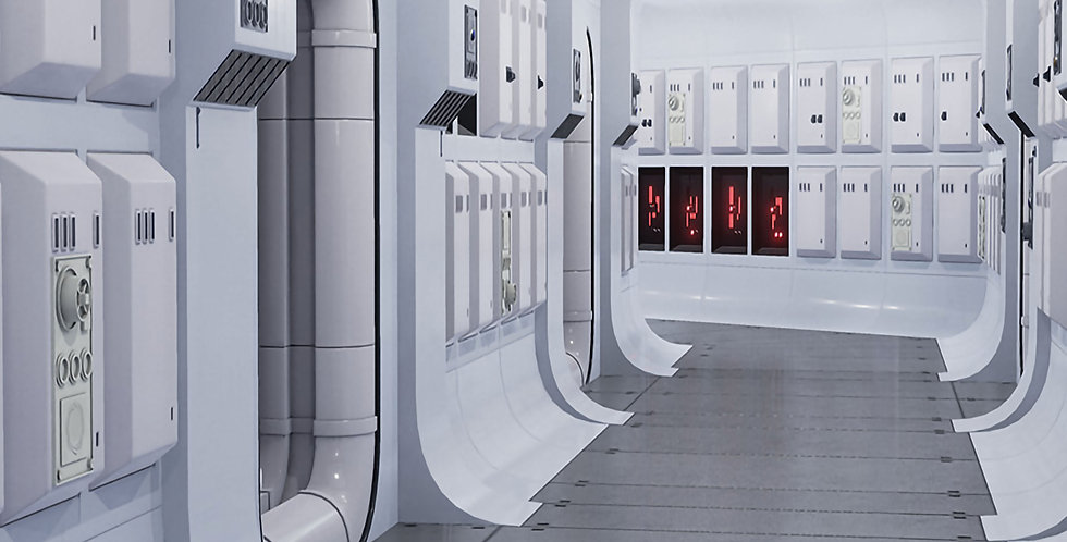 """STAR WARS - TANTIVE IV - 15""""x15"""" Decal Backdrop for IKEA DETOLF"""