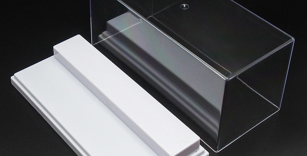 """7.5"""" x 3"""" x 3"""" Acrylic Display Case with 2 Steps 