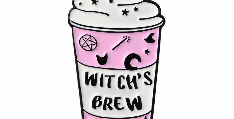 Geek Pins | Witch's Brew Moon | Brooch Lapel Pin Jewelry