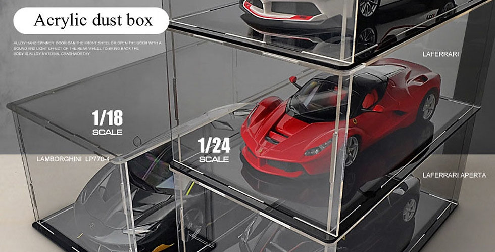Transparent Acrylic Display Box | Dust Cover Collection Display