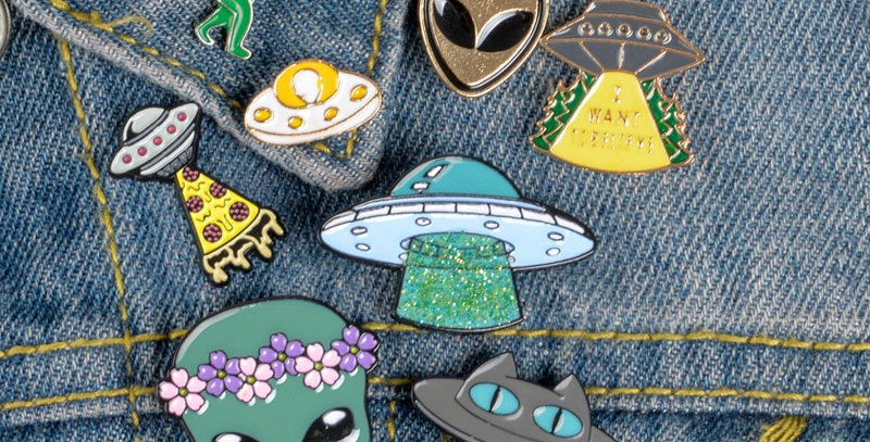 Geek Pins | Alien and UFO Enamel Pins Collection