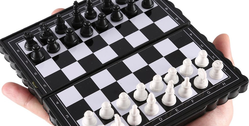 Mini International Chessboard | Folding Magnetic Portable