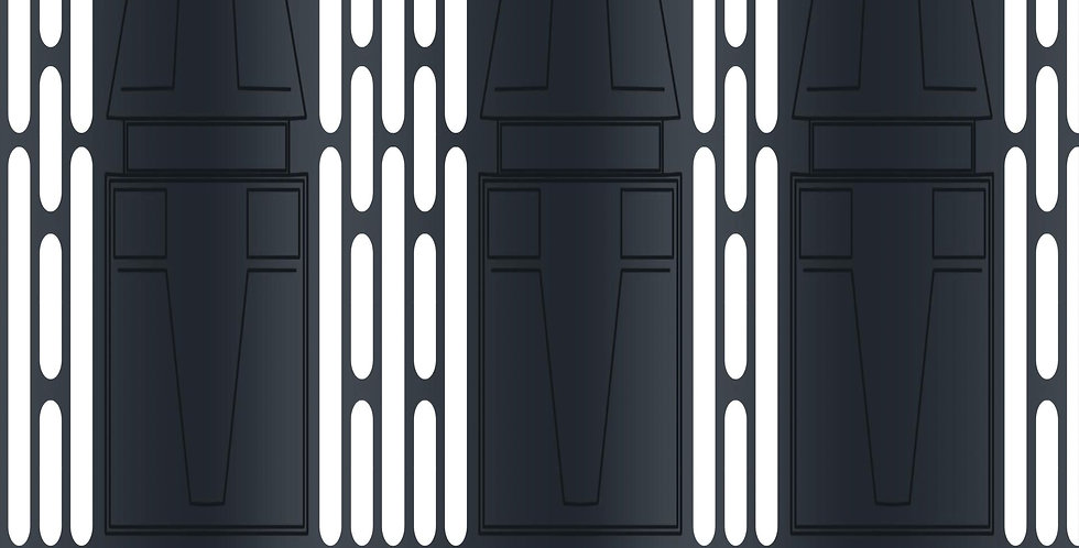 """STAR WARS - DEATH STAR INTERIOR PANELS - 15""""x15"""" Decal Backdrop for IKEA DETOLF"""