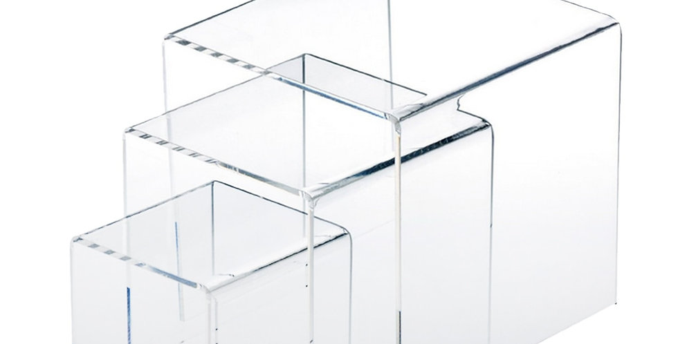 "3pc Set | 3"", 4"", & 5"" Inch Square Acrylic Risers  